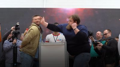 On Your Marks, Get, Set ... SLAP!! - Face slapping contest hits Krasnoyarsk