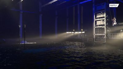 Europe's largest indoor water stage makes a splash in Belgium