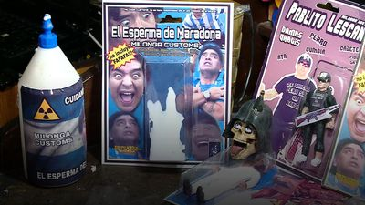 Toymaker packages Maradona's 'sperm'
