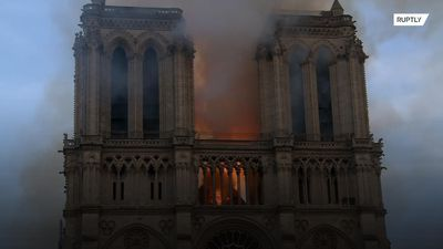 Flames engulf Notre Dame cathedral in Paris