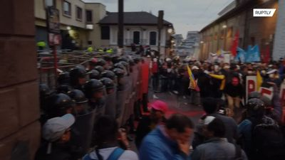 Clashes in Ecuador erupt as pro-Assange protesters rally in Quito