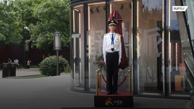 Wax figure or real-life person? This Chinese guard wows passersby