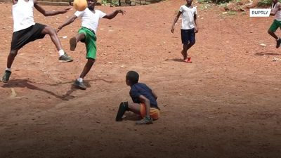 'The only game that makes me happy' - amputee boy from Sierra Leone shows that love for football has