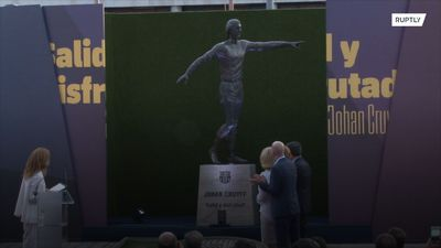 Barca unveil statue to club legend Johan Cruyff