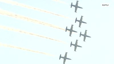 Aerobatic crews and military planes reach new heights at MAKS 2019