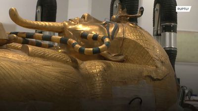 Efforts to restore King Tut's coffin underway at Giza museum