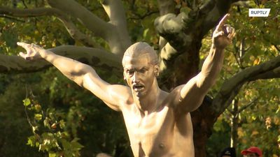 See Zlatan Ibrahimovic and his freshly unveiled topless statue in Malmo