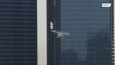 Is it a bird? Is it a plane? No! It's a flying taxi