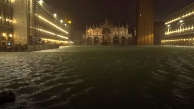 Venice in 'state of crisis' as record floods and winds batter the city