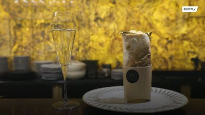 Darling, can I get some more caviar with my golden kebab?