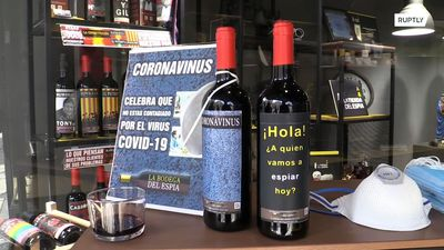 Tasteless or a bit of fun? Shop sells bottles of 'coronavirus wine'