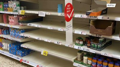 Supermarket shelves empty out as essential supply limiting begins