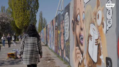Berlin parks filled with 'precious' coronavirus-inspired street art and murals