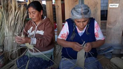 Indigenous women in Oaxaca craft masks from palm leaves amid coronavirus crisis