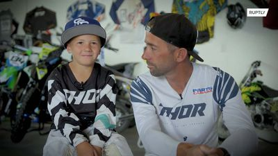 Fast and fearless! Six-year-old US boy is already a motocross giant