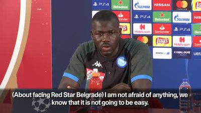 Napoli's Koulibaly expects difficult tie against Red Star Belgrade