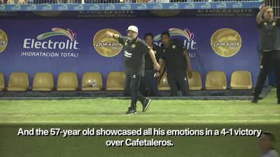 """""""I knew we'd win"""" Maradona after 4-1 win in first game in charge of Dorados"""