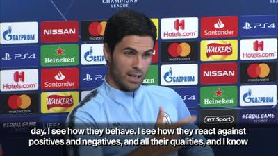 """Arteta says Man City have 'best players in the world"""" ahead of CL opener"""