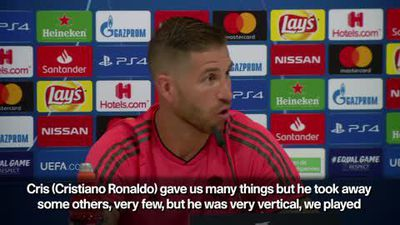 """CRon gave us many things, but he took away some others"""" Sergio Ramos"""