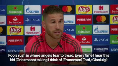 Ramos belittles Griezmann's claims he is at level of Messi, Ronaldo