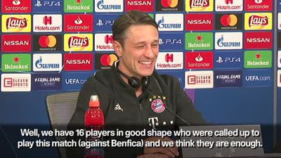 '16 players are enough' - Kovac