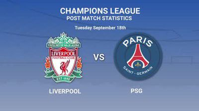 Post-match stats from Liverpool's 3-2 over PSG