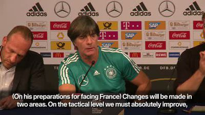 Germany 'must absolutely improve tactically' - Löw