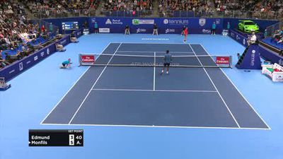 Kyle Edmund wins first title beating Monfils in ATP Tour event in Antwerp