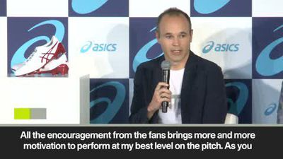 Andres Iniesta launches new line of shoes in Tokyo