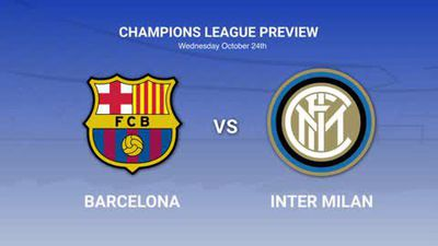 Data preview to Barcelona v Inter in the Champions League