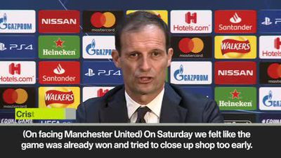 Allegri expects 'beautiful game' against Man United