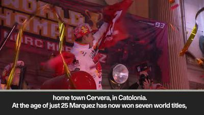 Marquez celebrates title in home town