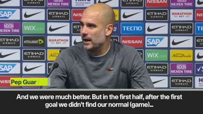 """City were much better in the second half"" Guardiola"