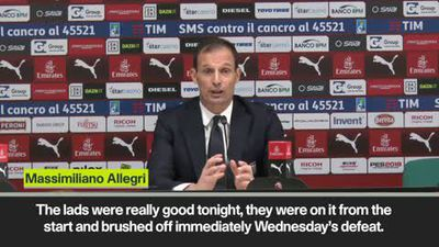 'Man United loss left us a bit shaken' - Allegri on Juventus beating AC Milan