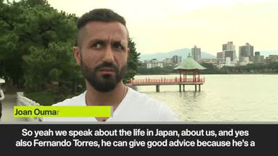 """We speak about life in Japan"" Joan Oumari and Fernando Torres are best mates at Sagan Tosu."