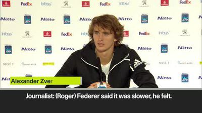 'The court is too slow for Federer, but for me it's fast' Zverev