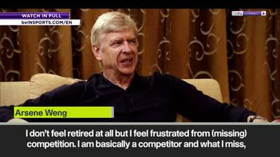 """""""I feel frustrated"""" Wenger on his hiatus from football management"""