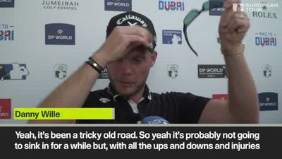 'It's been a tricky old road' tearful Willett after winning DP World Tour Championship
