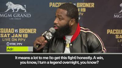'Pacquiao win makes me a legend' - Broner discusses January bout