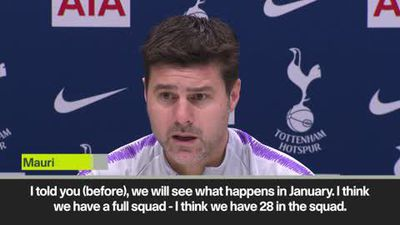 'No space for January signings' insists Pochettino, who shuts down transfer talk ahead of Leicest...