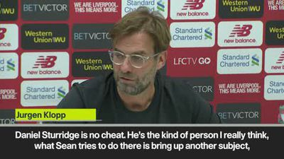 Klopp hits back at Dyche with staunch defence of Sturridge after cheating allegation