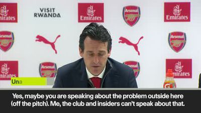 Unai Emery doesn't want distractions after Arsenal players' hippy crack incident