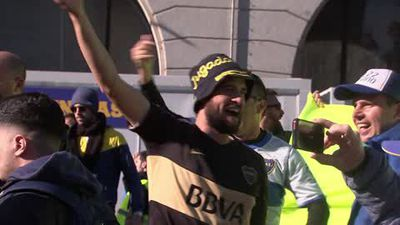 River and Boca fans gather in Madrid for second leg of the Copa Libertadores final