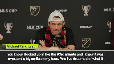 Emotional Parkhurst, Martino and Martinez after Atlanta United wins MLS Cup