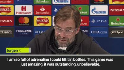 Klopp 'so full of adrenaline I could fill bottles' after win over Napoli