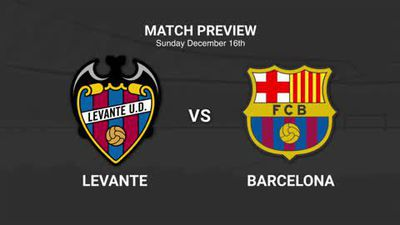 Data preview to Levante v Barcelona in La Liga