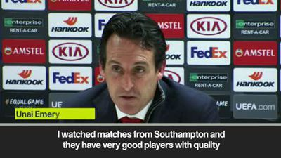 Emery expects a tough game against Southampton as Arsenal look to extend unbeaten run