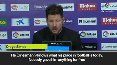 'Any other team would lose to Valladolid' Simeone