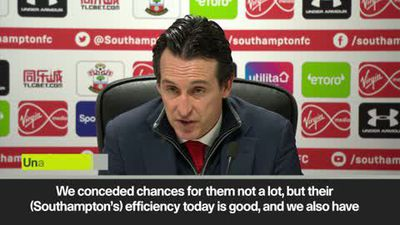 'We need to improve' – Emery on Arsenal's 3-2 defeat against Southampton