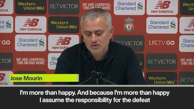 Mourinho takes blame for Liverpool defeat